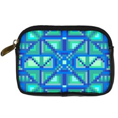 Grid Geometric Pattern Colorful Digital Camera Cases by Onesevenart