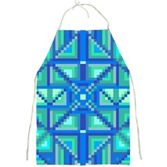 Grid Geometric Pattern Colorful Full Print Aprons by Onesevenart