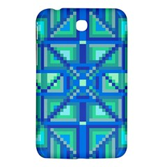 Grid Geometric Pattern Colorful Samsung Galaxy Tab 3 (7 ) P3200 Hardshell Case  by Onesevenart