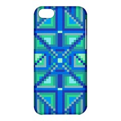 Grid Geometric Pattern Colorful Apple Iphone 5c Hardshell Case by Onesevenart