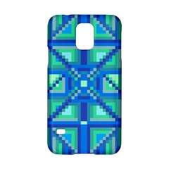 Grid Geometric Pattern Colorful Samsung Galaxy S5 Hardshell Case  by Onesevenart