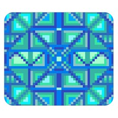 Grid Geometric Pattern Colorful Double Sided Flano Blanket (small)  by Onesevenart