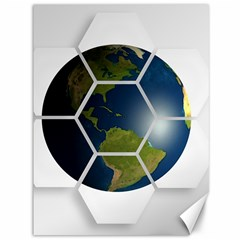 Hexagon Diamond Earth Globe Canvas 36  X 48   by Onesevenart