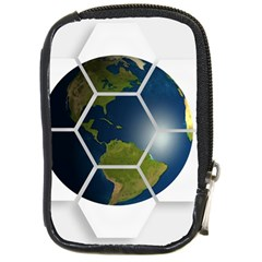 Hexagon Diamond Earth Globe Compact Camera Cases by Onesevenart