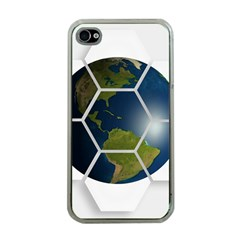 Hexagon Diamond Earth Globe Apple Iphone 4 Case (clear) by Onesevenart