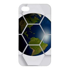 Hexagon Diamond Earth Globe Apple Iphone 4/4s Hardshell Case by Onesevenart
