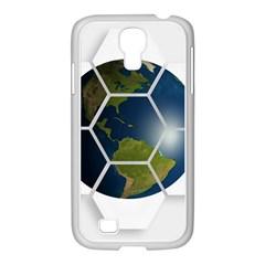 Hexagon Diamond Earth Globe Samsung Galaxy S4 I9500/ I9505 Case (white) by Onesevenart