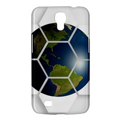 Hexagon Diamond Earth Globe Samsung Galaxy Mega 6 3  I9200 Hardshell Case by Onesevenart