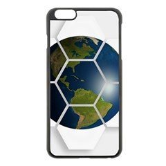 Hexagon Diamond Earth Globe Apple Iphone 6 Plus/6s Plus Black Enamel Case by Onesevenart