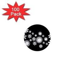 Flower Power Flowers Ornament 1  Mini Magnets (100 Pack)  by Onesevenart