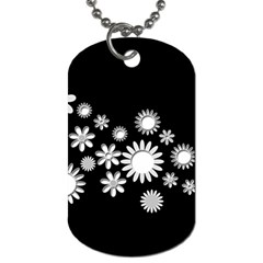 Flower Power Flowers Ornament Dog Tag (one Side) by Onesevenart