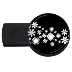 Flower Power Flowers Ornament Usb Flash Drive Round (2 Gb) by Onesevenart