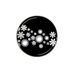 Flower Power Flowers Ornament Hat Clip Ball Marker by Onesevenart