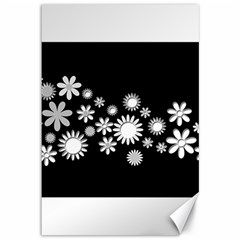 Flower Power Flowers Ornament Canvas 12  X 18   by Onesevenart