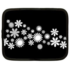 Flower Power Flowers Ornament Netbook Case (xl)  by Onesevenart