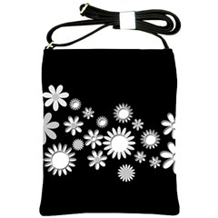 Flower Power Flowers Ornament Shoulder Sling Bags by Onesevenart