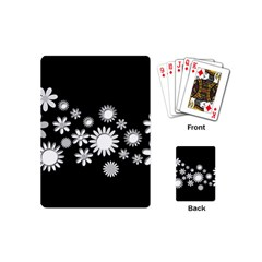 Flower Power Flowers Ornament Playing Cards (mini)  by Onesevenart