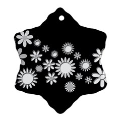 Flower Power Flowers Ornament Snowflake Ornament (two Sides) by Onesevenart
