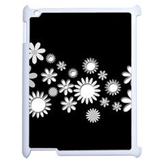 Flower Power Flowers Ornament Apple Ipad 2 Case (white) by Onesevenart