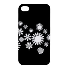 Flower Power Flowers Ornament Apple Iphone 4/4s Premium Hardshell Case by Onesevenart
