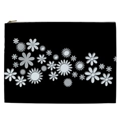 Flower Power Flowers Ornament Cosmetic Bag (xxl)  by Onesevenart