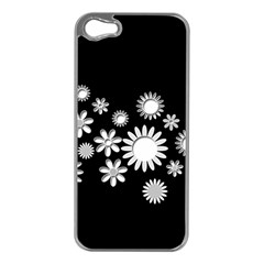 Flower Power Flowers Ornament Apple Iphone 5 Case (silver) by Onesevenart