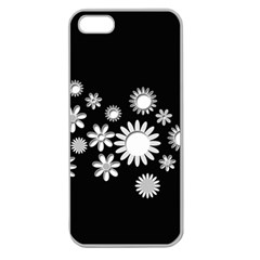 Flower Power Flowers Ornament Apple Seamless Iphone 5 Case (clear) by Onesevenart