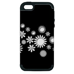 Flower Power Flowers Ornament Apple Iphone 5 Hardshell Case (pc+silicone) by Onesevenart