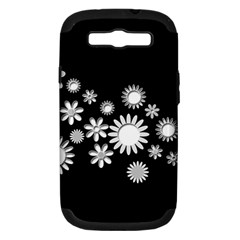 Flower Power Flowers Ornament Samsung Galaxy S Iii Hardshell Case (pc+silicone) by Onesevenart
