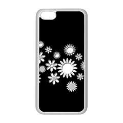 Flower Power Flowers Ornament Apple Iphone 5c Seamless Case (white) by Onesevenart