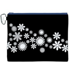 Flower Power Flowers Ornament Canvas Cosmetic Bag (xxxl) by Onesevenart