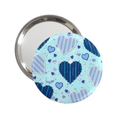 Hearts Pattern Paper Wallpaper 2 25  Handbag Mirrors by Onesevenart