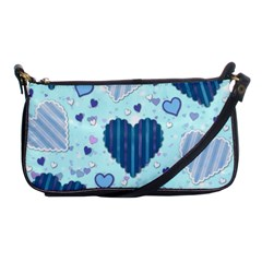 Hearts Pattern Paper Wallpaper Shoulder Clutch Bags by Onesevenart
