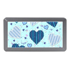 Hearts Pattern Paper Wallpaper Memory Card Reader (mini) by Onesevenart