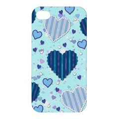 Hearts Pattern Paper Wallpaper Apple Iphone 4/4s Hardshell Case by Onesevenart