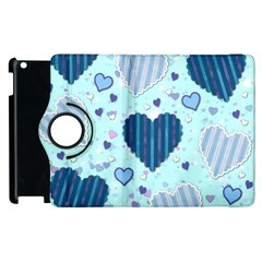 Hearts Pattern Paper Wallpaper Apple Ipad 3/4 Flip 360 Case by Onesevenart