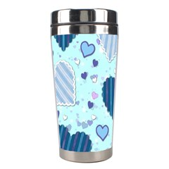 Hearts Pattern Paper Wallpaper Stainless Steel Travel Tumblers by Onesevenart