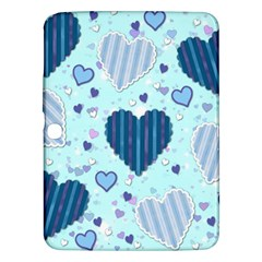 Hearts Pattern Paper Wallpaper Samsung Galaxy Tab 3 (10 1 ) P5200 Hardshell Case  by Onesevenart