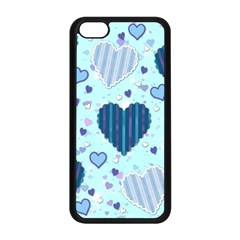 Hearts Pattern Paper Wallpaper Apple Iphone 5c Seamless Case (black) by Onesevenart