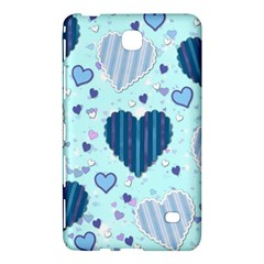 Hearts Pattern Paper Wallpaper Samsung Galaxy Tab 4 (7 ) Hardshell Case  by Onesevenart