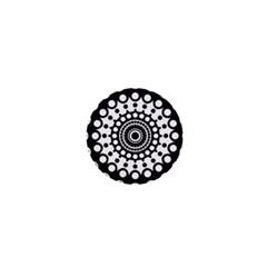 Mandala Geometric Symbol Pattern 1  Mini Buttons by Onesevenart