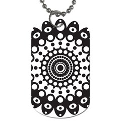 Mandala Geometric Symbol Pattern Dog Tag (two Sides) by Onesevenart