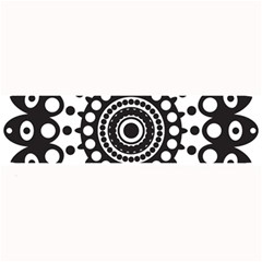 Mandala Geometric Symbol Pattern Large Bar Mats by Onesevenart