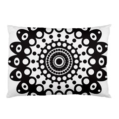 Mandala Geometric Symbol Pattern Pillow Case by Onesevenart