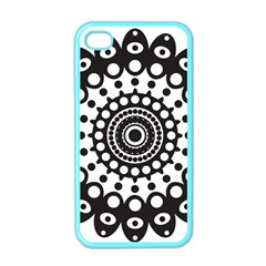 Mandala Geometric Symbol Pattern Apple Iphone 4 Case (color) by Onesevenart