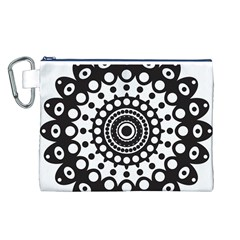 Mandala Geometric Symbol Pattern Canvas Cosmetic Bag (l) by Onesevenart
