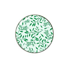 Leaves Foliage Green Wallpaper Hat Clip Ball Marker (4 Pack) by Onesevenart