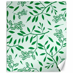 Leaves Foliage Green Wallpaper Canvas 20  X 24   by Onesevenart