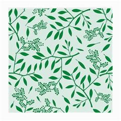 Leaves Foliage Green Wallpaper Medium Glasses Cloth (2 Side) by Onesevenart