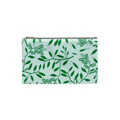 Leaves Foliage Green Wallpaper Cosmetic Bag (small)  by Onesevenart